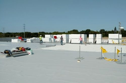 Thermoplastic Polyolefin roofing installation
