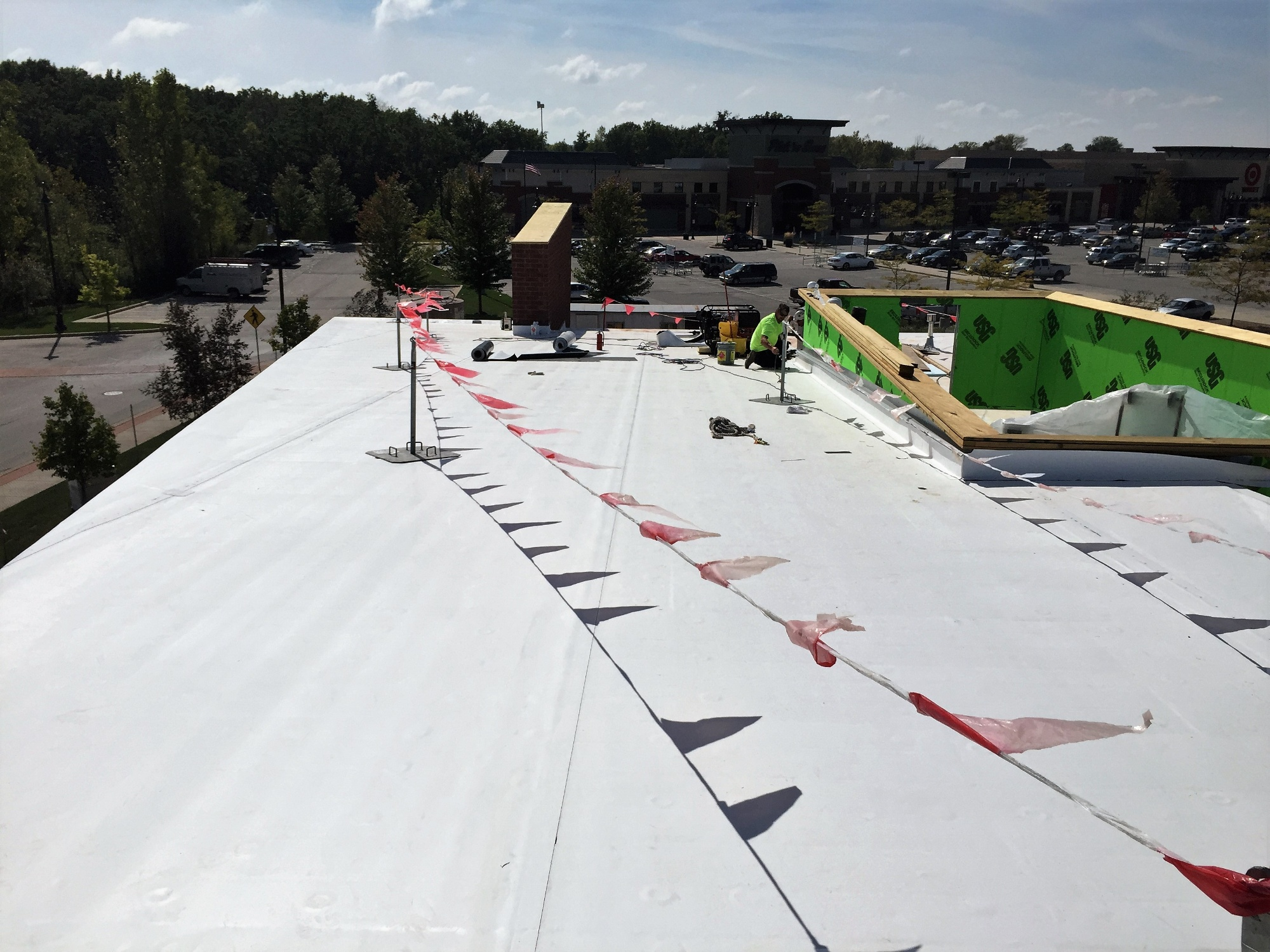 Flat Roof Installation For Commercial Buildings Tar And