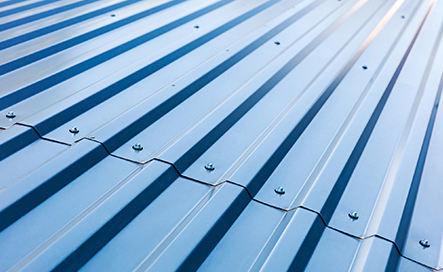 Commercial metal roofing installation